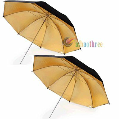 2Pcs 33'' Studio Flash Light Double Layer Umbrella For Camera Photography【AU】