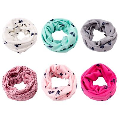 Baby Winter Cotton Neck Wrap Scarves Kids Boys Girls Child Warm Circle Scarf