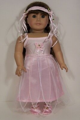"""3pc BURGUNDY Heart Dress Jacket Hat Doll Clothes For 18/"""" American Girl Debs"""