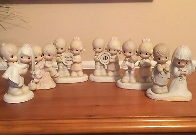 Lot of Precious Moments Porcelain Couples Figurines  - Lot of 6 EUC