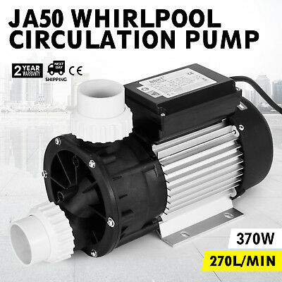 Vevor Hot Tub Whirlpool Circulation Pump Ja50 Lx 180L/min Thermally Protected Ca