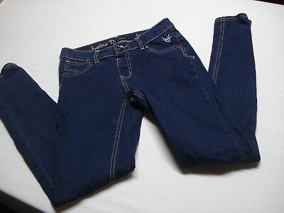 Justice Girls Dark Wash Premium Jeans Knit Jegging Size 12 / 12R Simply Low