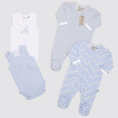 Marquise Blue Soft Cuddles Baby Clothing Gift Set Includes Singlets
