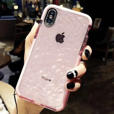 Luxury Crystal Glitter Rubber Clear Soft Case Cover For iPhone XS Max 8 6 7 Plus
