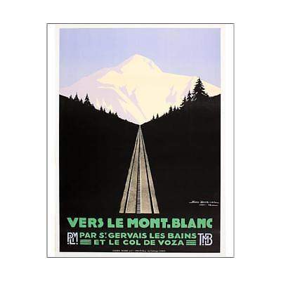 """10""""x8"""" (25x20cm) Print of Poster, travel to Mont Blanc from"""