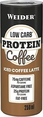 Weider Low Carb Protein Coffee 24 x 250 ml Dose (7,32 EUR/1000 ml)