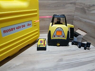 Leica Rugby 420 DG Dual Grade Self Levelling Rotating Laser Level Excellent
