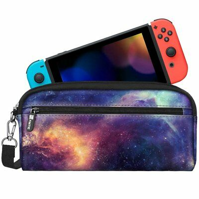 For Nintendo Switch Carrying Case Sleeve Pouch with Side Pocket Game Storage