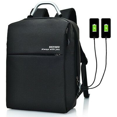 Large Capacity Unisex Travel Business Backpack Laptop Computer Bag with USB Port