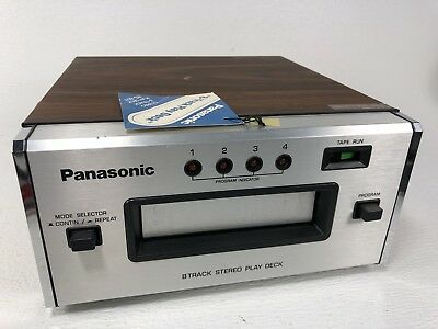 Panasonic RS-807 Eight Track Tape Player - See Condition