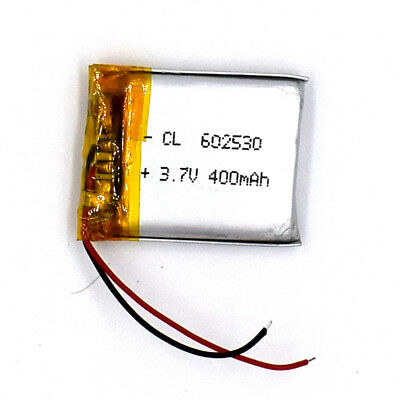 5pcs 3.7V 400mAh 602530 Li-ion Li-Polymer Rechargeable Battery LiPo Cell for GPS