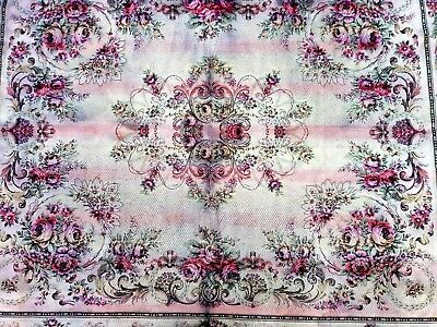 Large antique Tapestry bedspread, wall hanging or rug. 2 mtr 6.5 cm x 2 mtr 41cm
