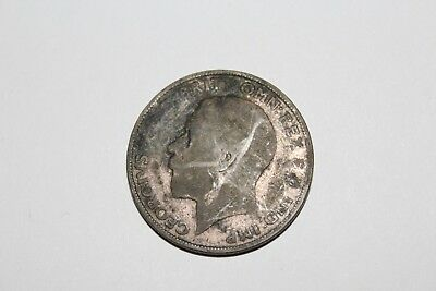 Uk 1924 Silver Florin Coin Two Shillings King George Old Large Coin