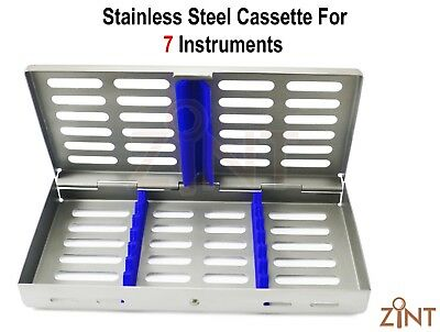 Dental Stainless Steel Cassette For 7 Instruments Autoclave High Quality Box CE