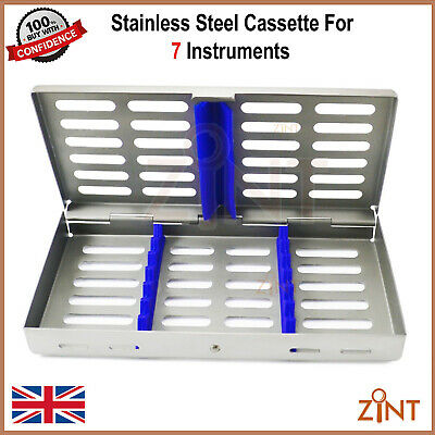 Sterilization Cassette For Seven Instruments Autoclave Stainless Steel Tray New