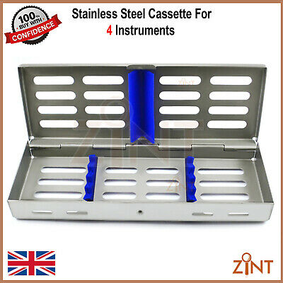 Sterilization Stainless Steel Cassette 4 Pieces Surgical Implant Lab Instruments