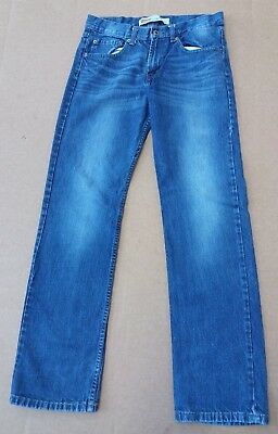 Boys' Men's Levis 514 Straight Leg Jeans W29 L29 Blue Age 18 Yrs Distressed A136