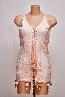 Vintage Forties / Fifties Front Lacing 8 Garter CORSELETTE AIO All in One