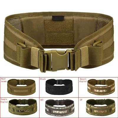 Tactical Military Airsoft Molle Combat Waist Padded Belt Combat Web Belt Hunting