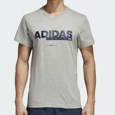 Details about adidas Camiseta ID Lineage Tee Mens New T Shirt Men Grey Navy CV4542