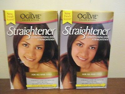 (2) Ogilvie Conditioning Hair Straightener : For All Hair Types