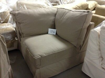 Pottery Barn Comfort Sofa Sectional Corner Box Slipcover Only Camel