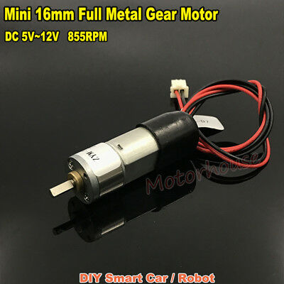 DC 6V~12V 850RPM Micro Mini Full Metal Gearbox Gear Motor Reducer Motor