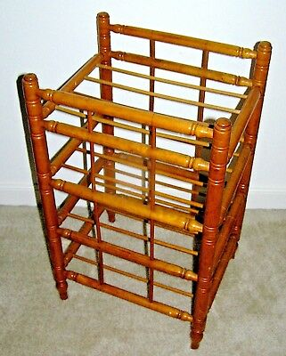 Antique Furniture Stand Display Pie Rack Curly Maple