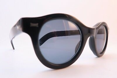Vintage Cutler and Gross of London sunglasses black acetate Mod 0197 handmade