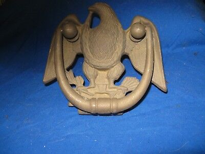 Antique Ornate Solid Brass American Eagle Door Knocker Bird Of Pray