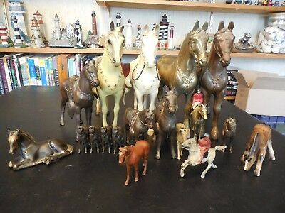 Vintage Metal and Plastic Horse Collection
