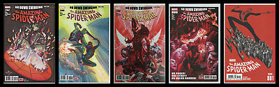 AMAZING SPIDER-MAN 797 798 799 800 801 1st PRINT RED CARNAGE GOBLIN 2018 NM- NM