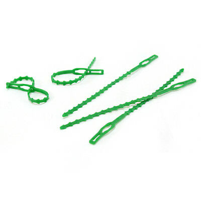 High Temperature Resistance Reusable Gardening Straps Green Fixed Buckle