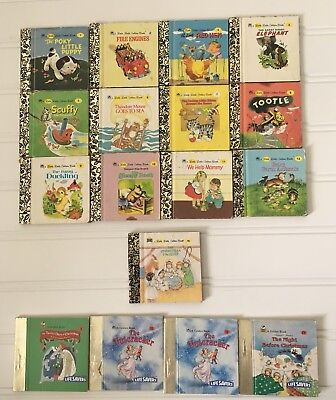 Lot of 12 Vintage Little Golden Book Classics Mini Miniature Books 1-12 W/extras