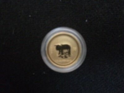 2007 1/10 Ounce Gold Year Of The Pig Lunar Series 1 Perth Mint