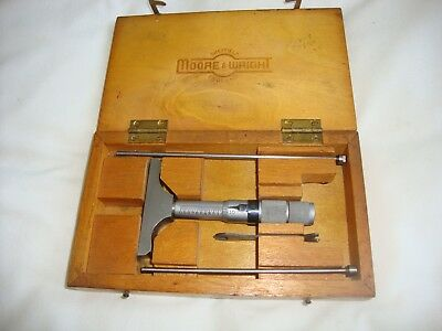 Moore And Wright 1 - 3Inch Depth Micrometer
