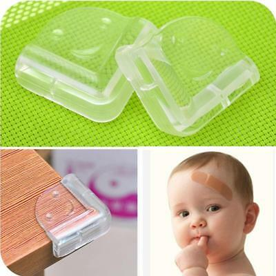 4PCS Soft Clear Desk Edge Corner Table Children Safety Smile Face Guard Cover