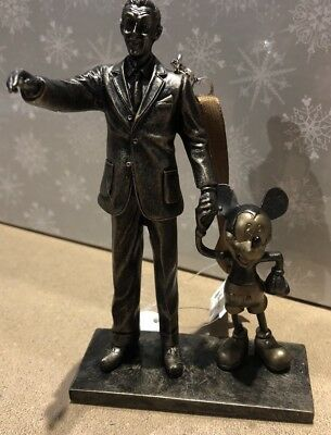 """Walt Disney and Mickey Mouse """"Partners"""" Ornament Statue Figurine Disney Parks"""