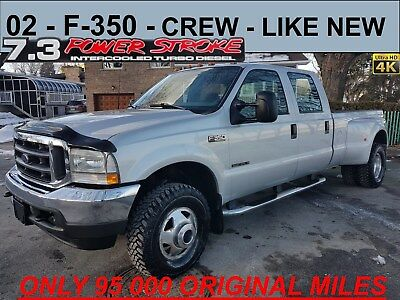 2002 Ford F-350 XLT 7.3 DIESEL 4X4 CREW ONLY 95K MILES&1 OWNER 4x4*CREW*7.3L DIESEL*RARE SILVER COLOR*ULTIMATE LOW MILLAGE*