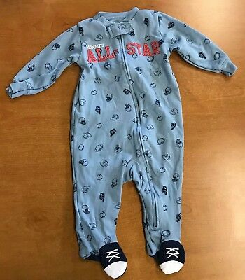 7bae6a61d NWOT CARTER S BOY S Footed 1 Piece Zip Up Sleepwear Pajamas - 6 ...