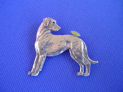 Rhodesian Ridgeback Butterfly Pin #60B Pewter dog jewelry by Cindy A. Conter
