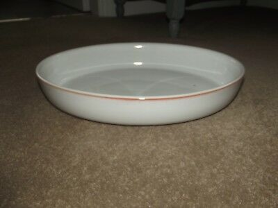 denby white and pink oval serving/roasting dish