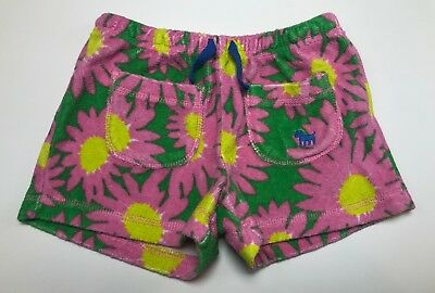 Mini Boden Toweling Shorts Terry Floral Size 6 LBFO
