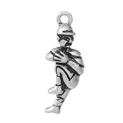 5 Silver Plated Baseball Pitcher Charm, chs1967