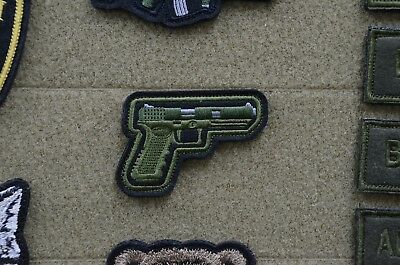 Pistol, gun patch, Russian Tactical army morale military patch