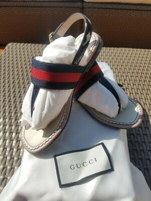 Gucci PREOWNED sandals kids size 12 USA
