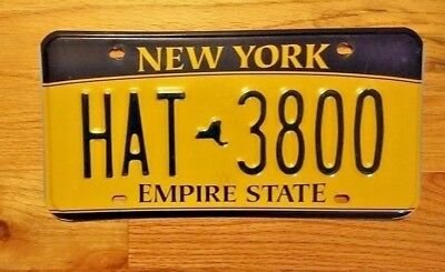 New York Empire State License Plate /tag ~Hat 3800~