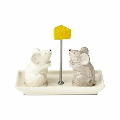 Enesco Basics Mice with Cheese Salt and Pepper Shakers