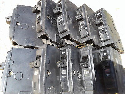 REDUCED! Ten (10) used Square D 20 Amp Single Pole Circuit Breakers