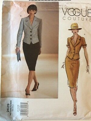 Vogue Couture Top & Skirt Sewing Pattern #2629, Sizes 12,14,16, Uncut